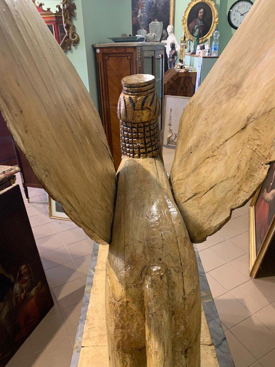 Sphinx Ailé, En Bois Laqué Et Doré, Utilisé à Des Fins Théâtrales-photo-2