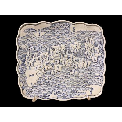 Plate, Of Japanese Origin, Made At The End Of The 19th Century.