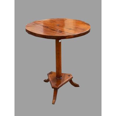 Table Basse En Noyer, De Lombardie, Réalisée Dans La Première Moitié Du 19ème Siècle