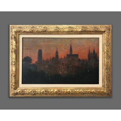 Marie-gabriel Biessy (1854-1935), Ciel Rouge, 1905-06 Ca