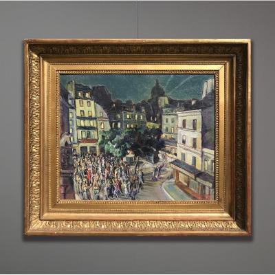 Gustave Francois Beaudelet (1893-1968) Montmartre En Fête, 1947