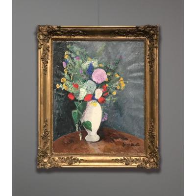 Joseph Hecht (1891-1951), Nature morte avec Fleurs