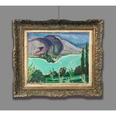 Francois Albert Quelvee (1884-1967) Lac d'Annecy - Sur Talloires, 1954