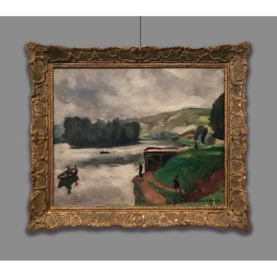 Charles Picart-le-doux (1881-1959) Paysage Fluvial, 1930