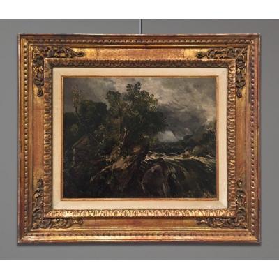 Alfred William Parsons (1847-1920) Paysage Avec Moulin Et Cascade