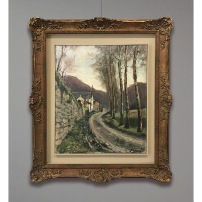Louis-Gustave Cambier (1874-1949) Paysage de campagne, 1896