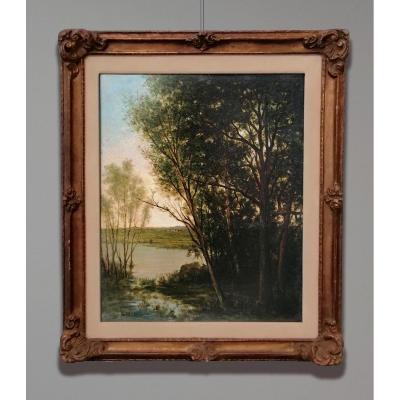 Louis Maréchal (1884-1971) Paysage fluvial (Limoges), 1918