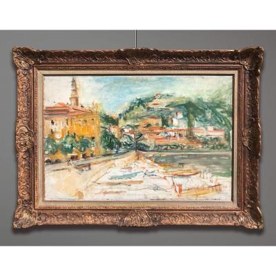 Isaac Dobrinsky (1891-1973) Le Port De Menton, 1954-1955