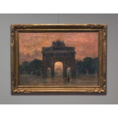 Marie-Gabriel Biessy (1854-1935) Arc du triomphe du Carrousel