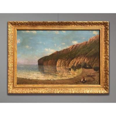 Artiste Du 20ème Siècle Signé Beaumont, Paysage côtier