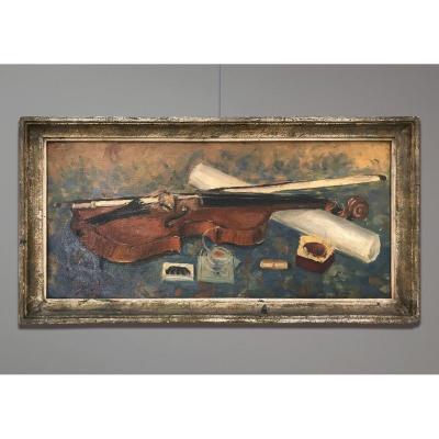 Raymonde Bouquet-Gallien (1909- ?) Le Violin, Paris, 1931