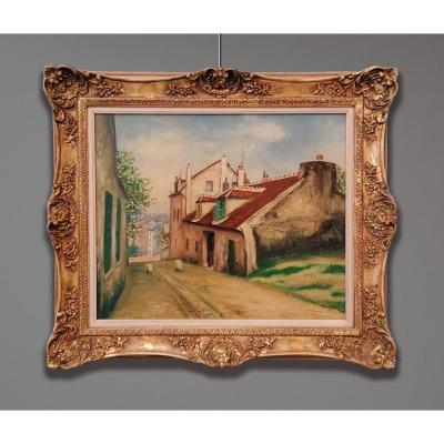 Gazi-Igna Ghierei dit Le Tatar (1900-1975)  La Maison Mimi Pinson et la Rue da Mont-Cenis à Montmatre