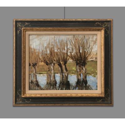 Pierre Eugene Montezin (1874-1946) Arbres au bord de la rivière