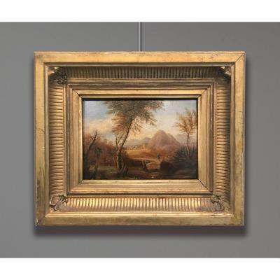 Artiste du 19ème siècle signée Harriet Browne, Paysage, 1819