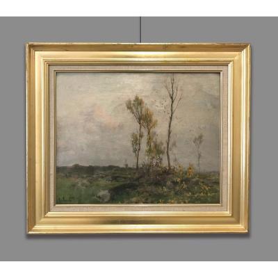 Alexandre Jacob (1876 - 1972) Paysage de Picquigny, Somme, 1930