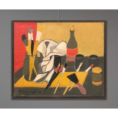 Henry Wormser (1906-1986) Les Outils Du Peintre, 1954