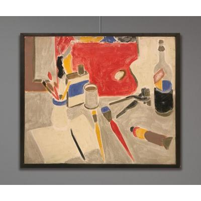 Henry Wormser (1906-1986) Les Outils Sur Fond Gris, 1954