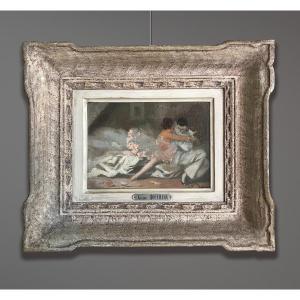 Gaston Hoffmann (1883-1977) Pierrot And Colombine