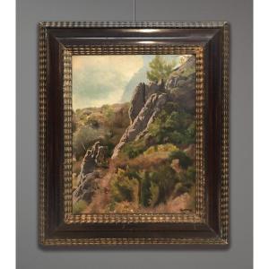 Marcel Mangin (1852-1915) Rocky Landscape
