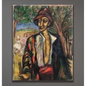 Artiste Du 20ème Siècle Signé Jean Marini, Portrait , 1932
