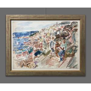 Simon Abramovitch dit Claude Vanier (1910-1958) Paysage marin