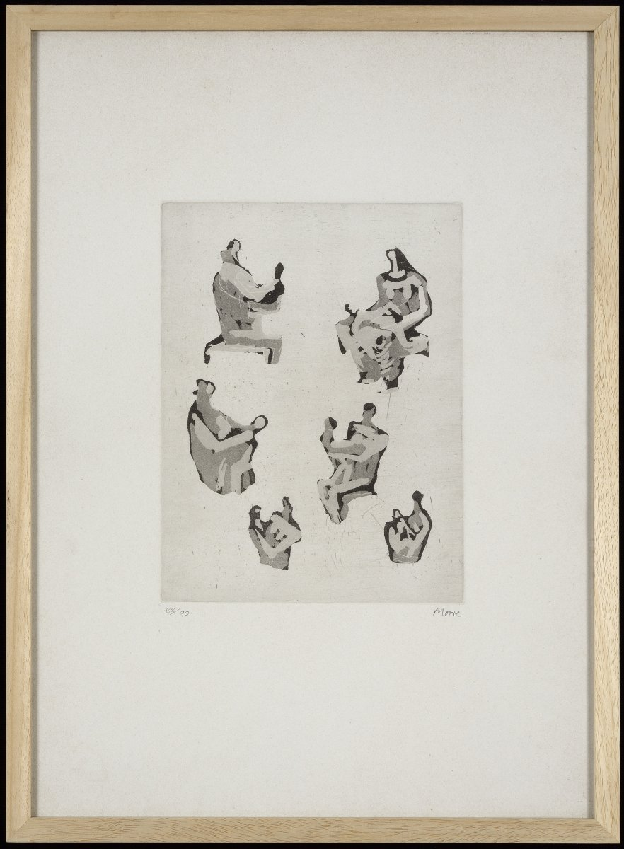 Henry Moore (castleford 1898- Perry Green 1986) - Etching And Aquatint