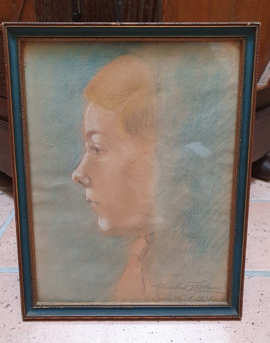 Portrait Of Young Boy In Profile - 1930