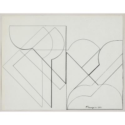 Franco Meneguzzo (1924-2008) - Ink On Paper, 1973