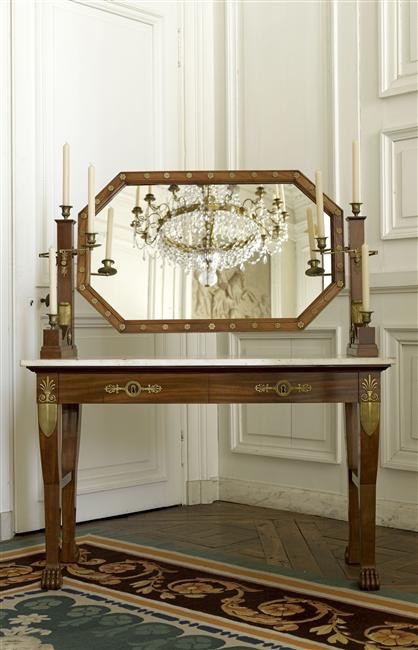 Table De Toilette D'époque Empire Estampillée Jacob. D. R. Meslee