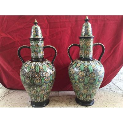 Pair Of Great Vases Thounes