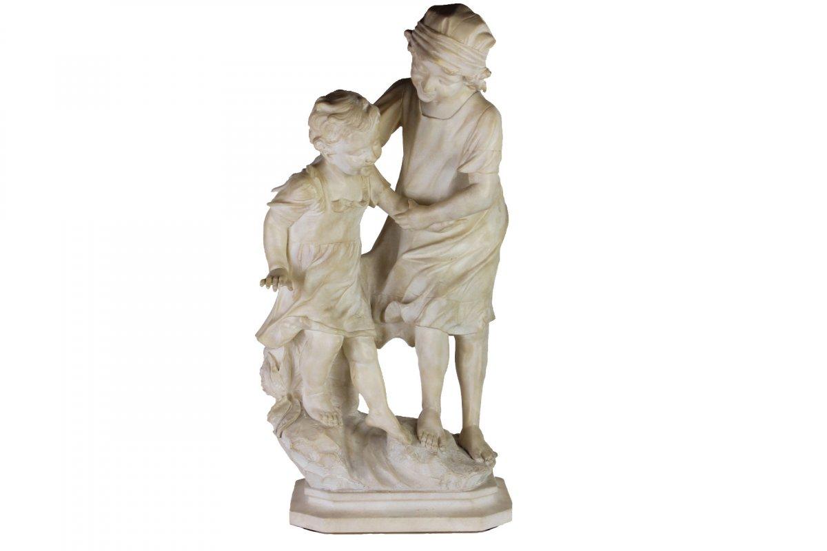 Sculpture Ancienne 19 Eme Siecle En Albatre