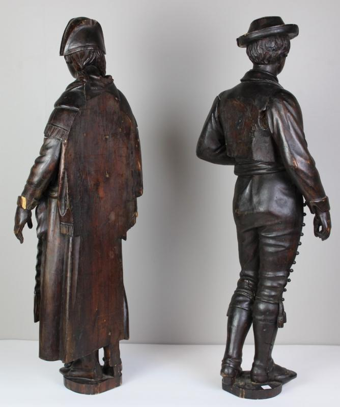 Pair Of Wooden Sculptures  Of 19th Century-photo-3