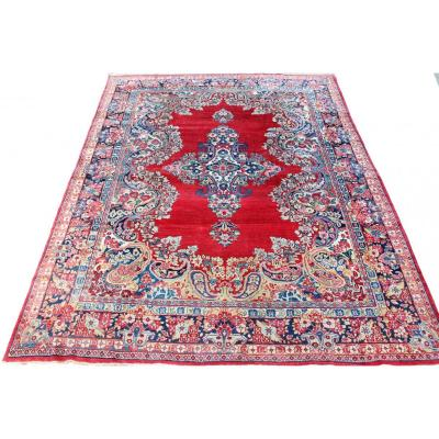 Kerman Hand Made Carpet 425 Cm.x 324 Cm. End Of The 20th Century