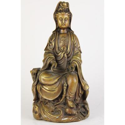 Nineteenth Century Chinese Bronze Budha Statue
