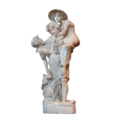 Sculpture italienne en albâtre Fin du 19e siècle