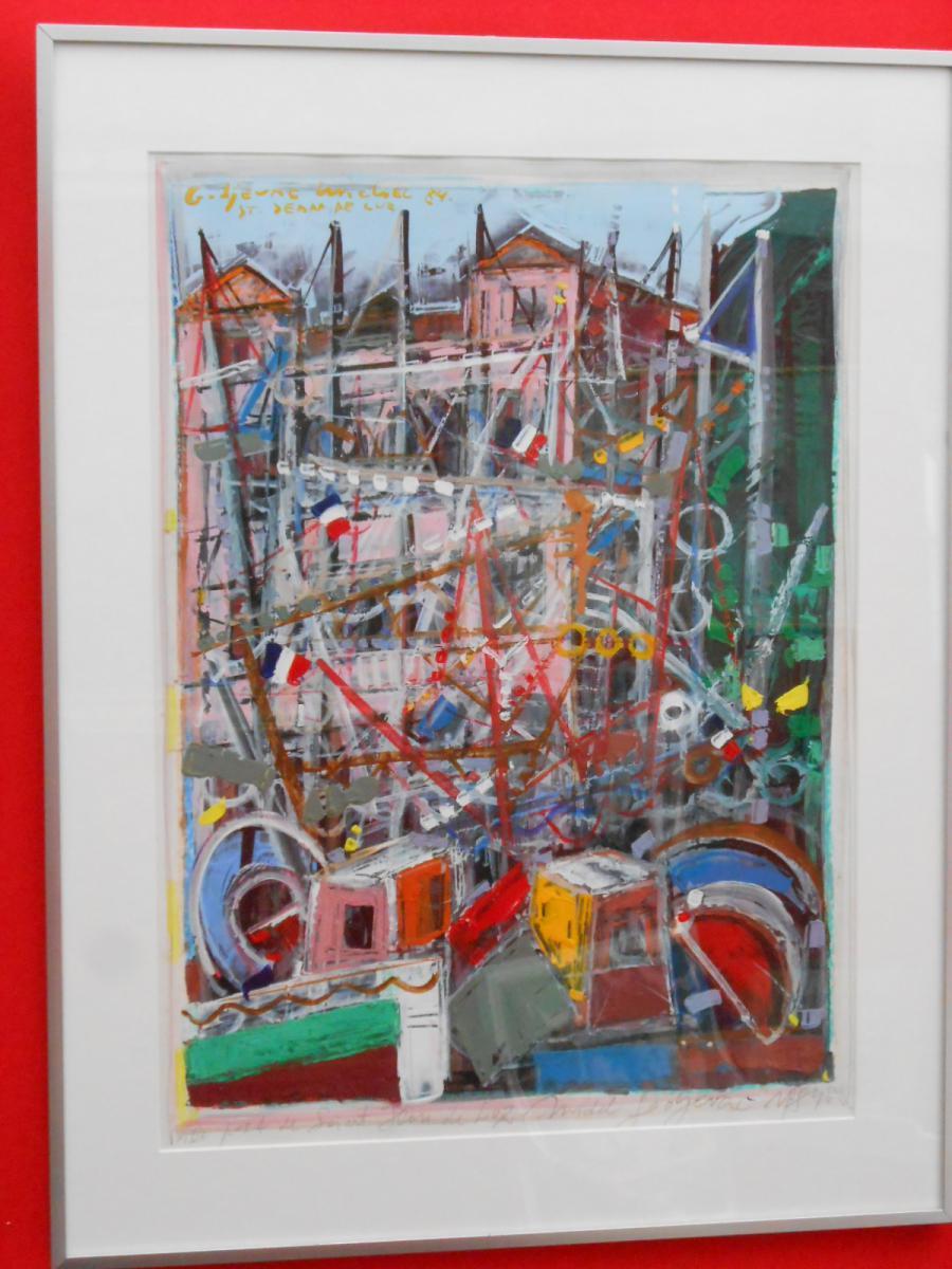 Peinture moderne l 39 acrylique tableaux paysages for Peinture acrylique moderne