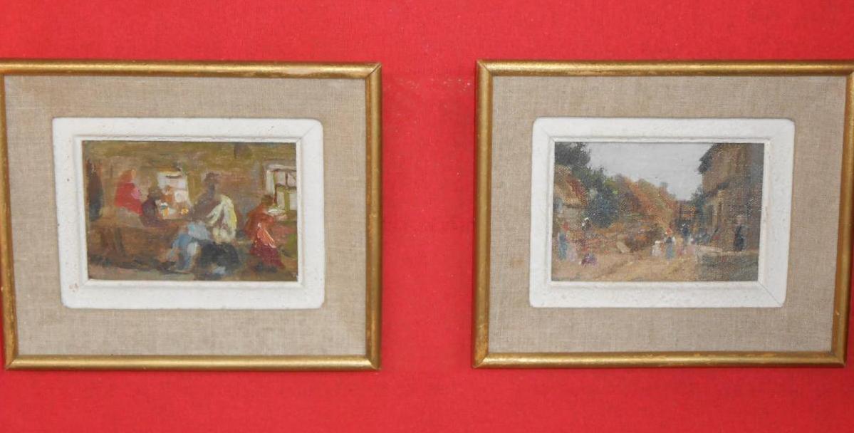 Paire de Peintures Fin XIXème, Ecole Russe.