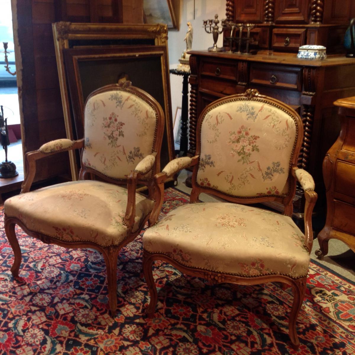 Pair Of Louis XV Armchairs