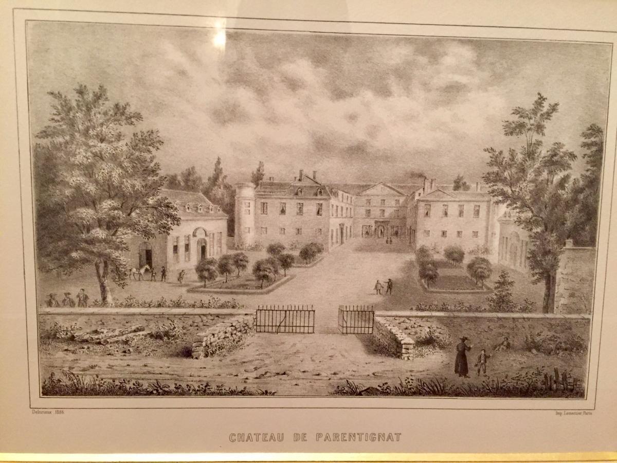 Gravure Chateau de Parentignat