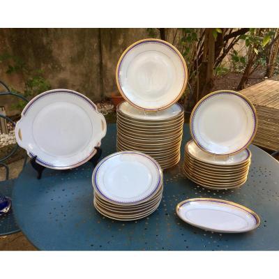 Beautiful Fine Limoges Porcelain Table Service