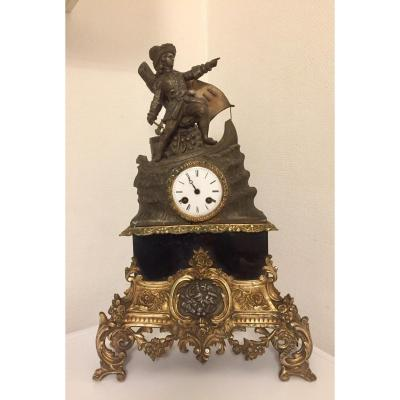 Grande Pendule XIXeme En Bronze et Régule