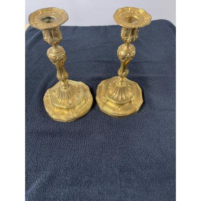 Pair Of Louis XV Candlestick