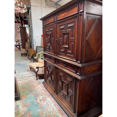 Buffet 4 Doors 3 Drawers Louis XIII