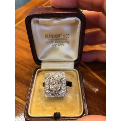 Bague Art Deco Diamants De La Maison Beaumont