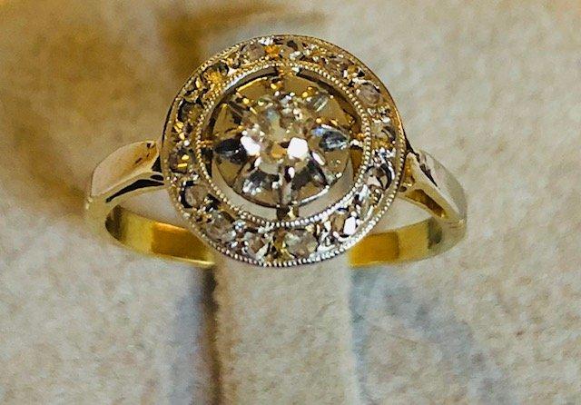 Bague Rosace Diamants 1930