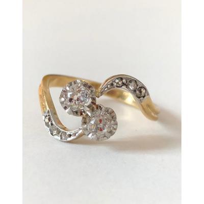 Bague Toi Et Moi Ancienne Diamants