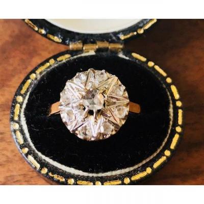 Bague XIX éme Marguerite Diamants