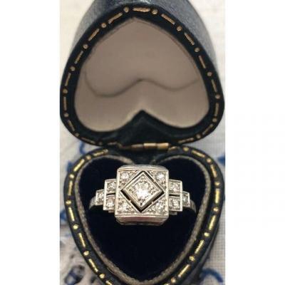 Art Deco Diamonds Platinum Ring