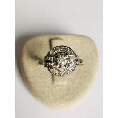 Bague Diamants époque Art Déco