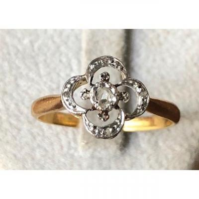 Bague Fleur Diamants XIX éme
